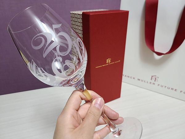 フランクミュラーのワイングラス